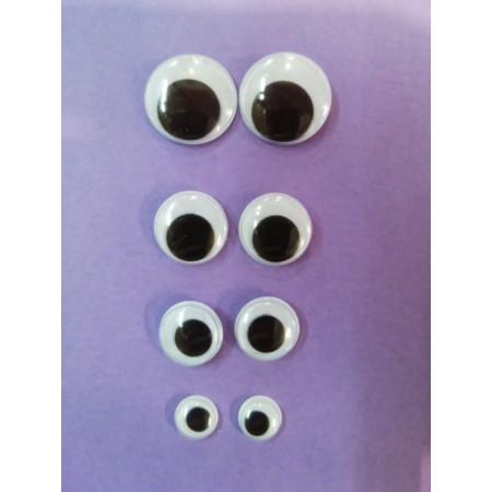 Ojos para muñecos (coser)